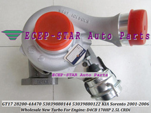 GT17 28200-4A470 53039880144 53039880122 Turbo Turbine Turbocharger For Hyundai For KIA Sorento 2.5L CRDi 2001-2006 D4CB 170HP