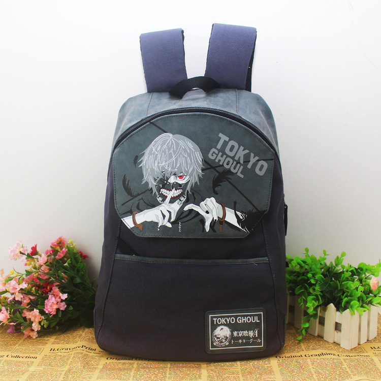 Hot cartoon tokyo ghouls backpack anime travel backpack computer dairly canvas bags
