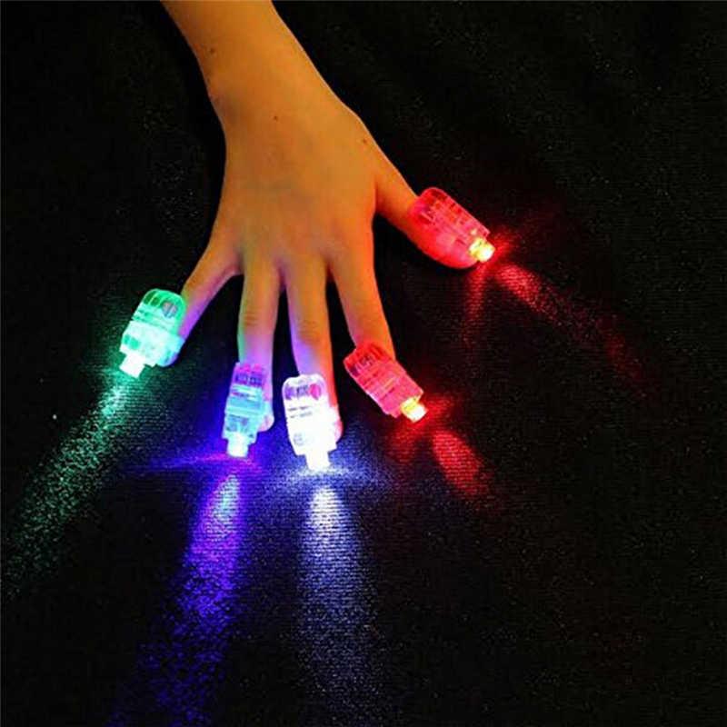 Hot New Anel de Dedo Lâmpada Led Fluorescente Piscando Adereços Concert Led Light Up Brinquedos Cesta Lumineuse Juguetes 1 pcs Crianças Brinquedos