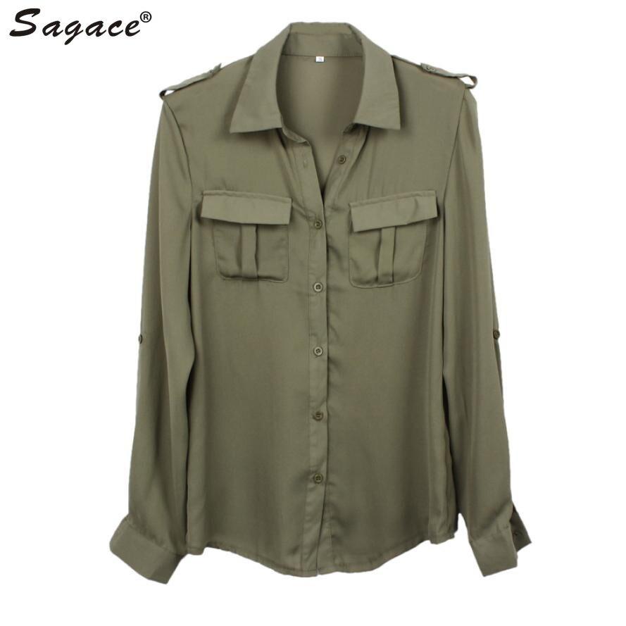 Green Button Up Shirt Womens
