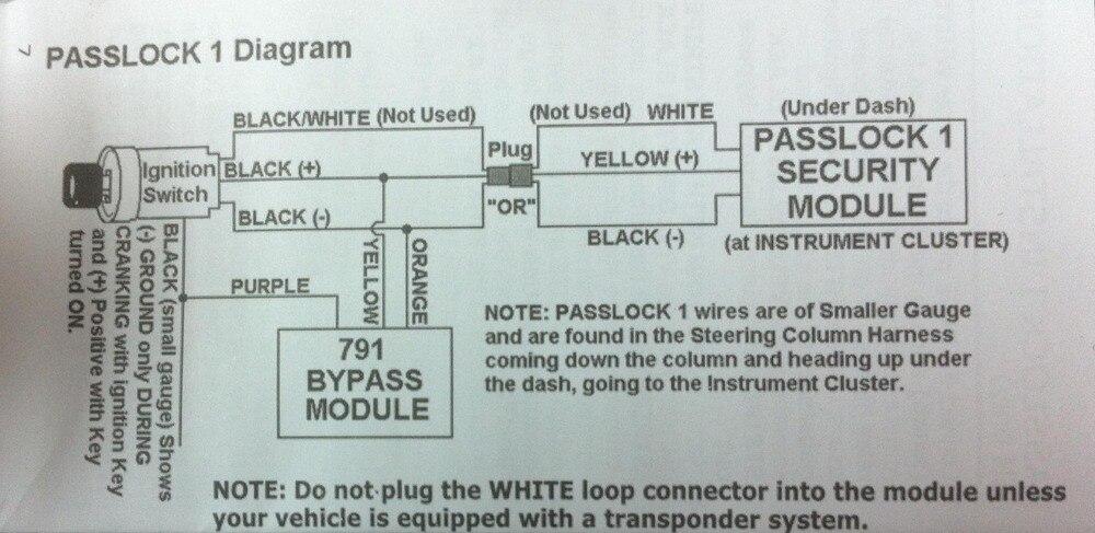 Passlock 1 Bypass Diagram - Wiring Diagram Services •