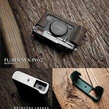 Mr.Stone Genuine Leather Camera case Handmade Video Half Bag For Fujifilm X-PRO 2 Xpro2 XPRO Mark 2 Camera Retro Vintage Case