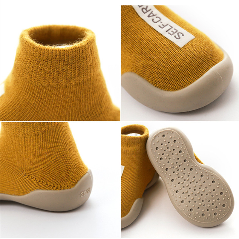 Kids Baby Indoor Socks Anti Slip Warm Winter Shoes Sock with Rubber Soles Newborns Toddlers Walking Socks Terry Slippers Thick Socks Winter Fall (2)