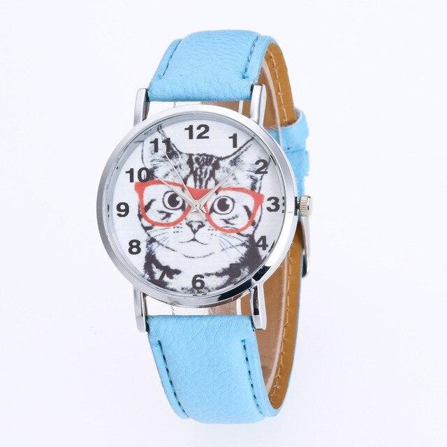 52a87346f9d 2018 Nova Moda Linda Miau Gato Assistir Mulheres Casuais Relógio De Pulso  De Luxo Relógio de