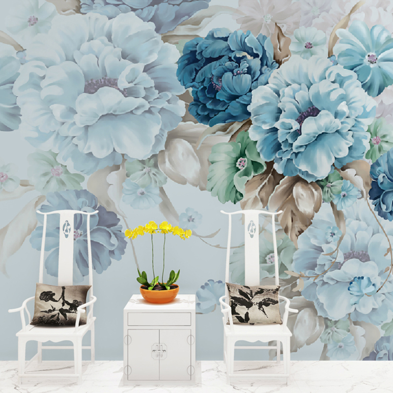 Custom 3D Wall Murals Wallpaper For Bedroom Walls Pastoral Hand Painted Floral Wall Painting Living Room Decoration Mural Paper