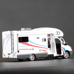 Image 3 - סגסוגת 1:32 קנה מידה מתכת Diecast רכב דגם מנוע יוקרה לאצן בית רכב פנאי RV קרוון קרוואן דגם