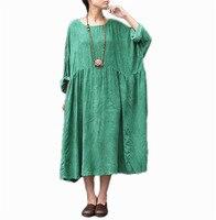 Yesno ta7 женское платье кафтан большие свободные собрались талии масло окрашенные Повседневное oversize