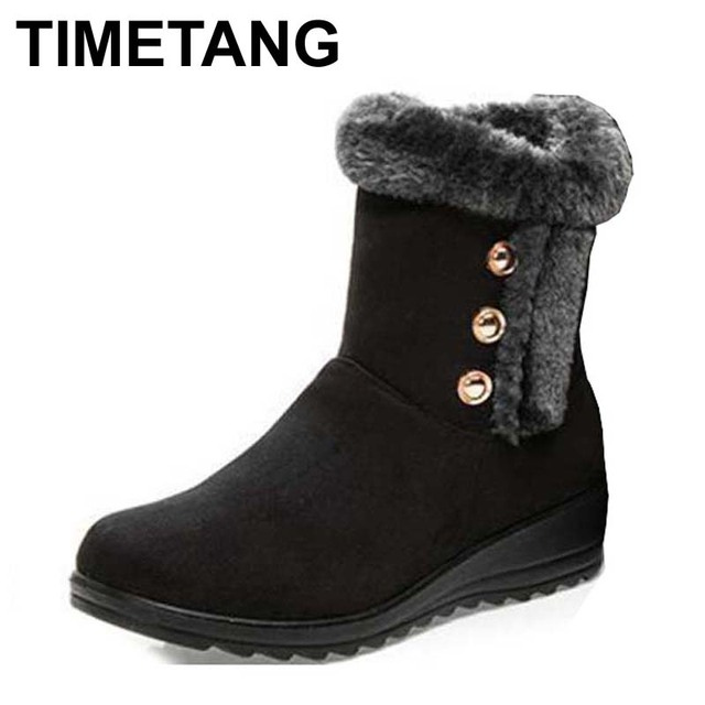 TIMETANG wholesale Australia Classic Tall Bailey Button Snow Boots Women's Real Leather Winter Classic Short Shoes  snow boots