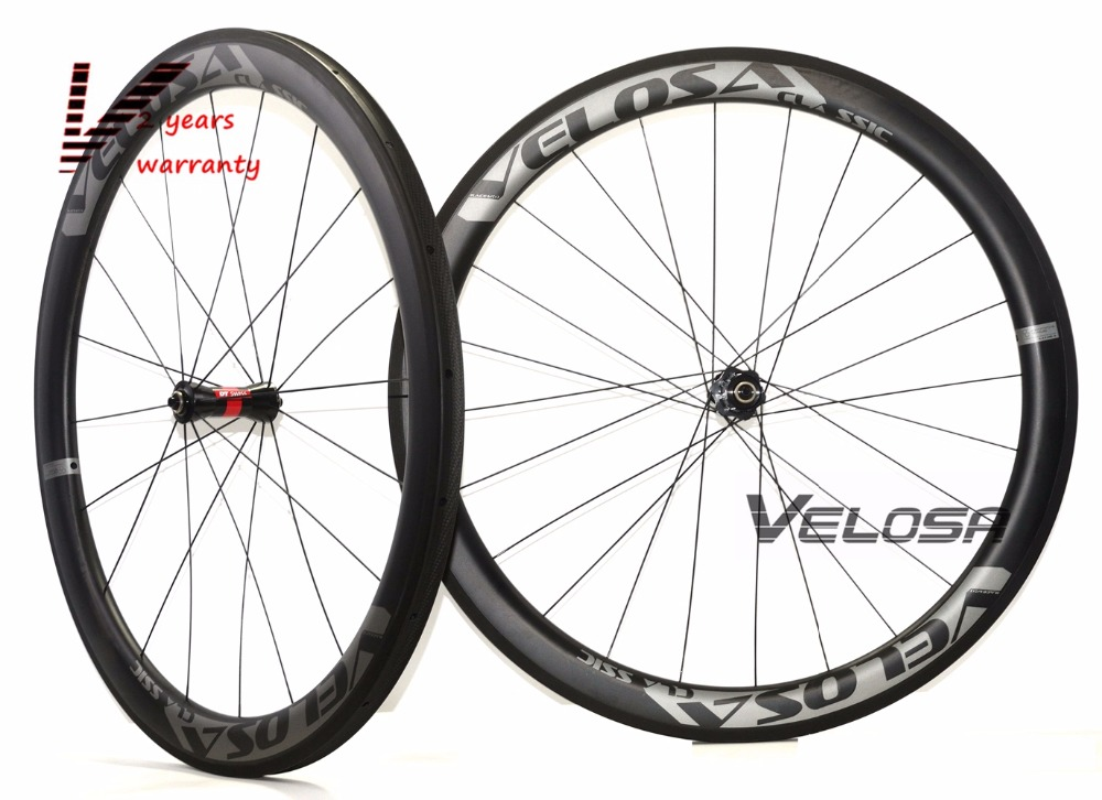 Velosa RACE 50 road bike 700C carbon wheels,50mm clincher/tubular,DT 240S hubs Sapim cx ray super light aero wheelset velosa supreme 50 bike carbon wheelset 60mm clincher tubular light weight 700c road bike wheel 1380g