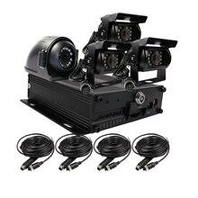 Бесплатная доставка H.264 i/o 128 ГБ SD g-сенсор Автомобильный видеорегистратор Видео Регистраторы комплект + металл ИК сторона заднего вида автомобиля Камера для грузовик автобус