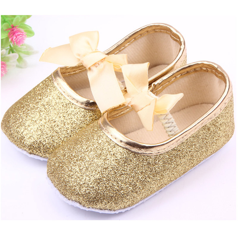 fashion bling baby princess shoes butterfly knot infant