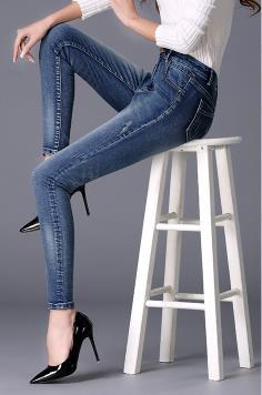 Modelos Lápiz Femeninos Cintura Alta Blue Jeans Y B1FqBw8