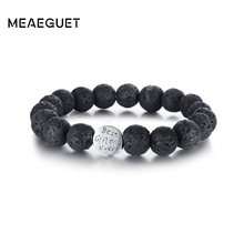 Women's Beads Bracelet Lave Stone Best Mom Ever Back Color Elastic Rope Free One Size Comfit For Female Mother's Gifts Jewelry(China)