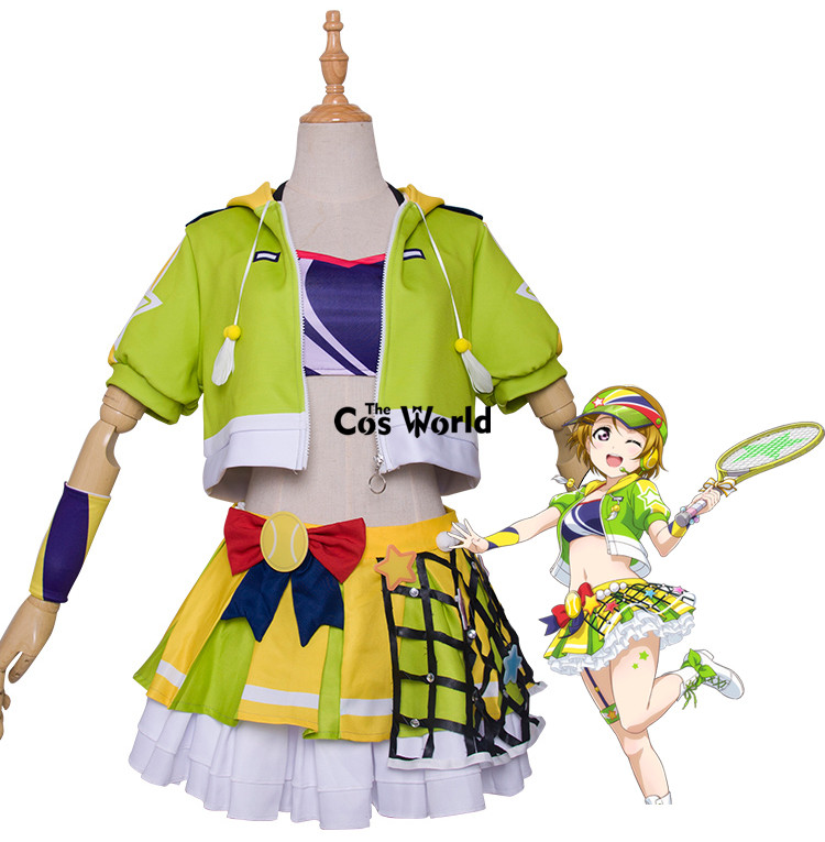 Love Live School Idol Project Koizumi Hanayo Tennis Boob Tube Tops Coat Outwear Dress Uniform Outfit Anime Cosplay Costumes
