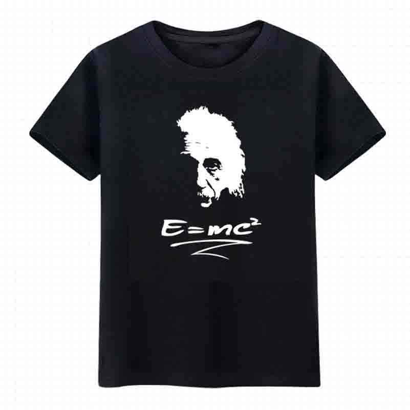Ciência NiceMix equação T-shirt geek camisetas tee quadrinhos tshirt The Big Bang Teoria da relatividade E = MC2 carta imprimir 29644