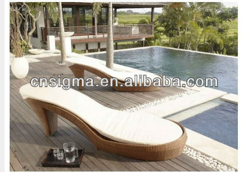 fashion design new heels patio daybed furniture chaise loungechina