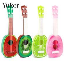Yuker 32CM Children Kids Learn Guitar 4 String Ukulele Creative Cute Mini Fruit Can Play Musical