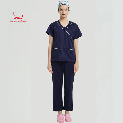New operating gown antistatic hand washing neonatal short-sleeve split suit work