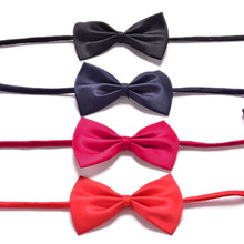 1pc Children Adjustable Accessories Cute Kids Boys Bow Tie Solid Color Bowknot For Wedding Lovely Tie Children(China)