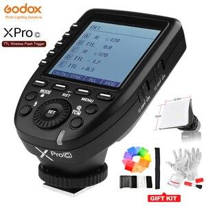 Image 1 - Godox XPro C フラッシュトリガートランスミッタで E TTL II 2.4 グラム X システム HSS キヤノン用液晶画面 70D 80D 5 5DIII デジタル一眼レフカメラ