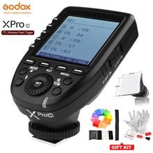 Godox XPro C Flash Trigger Zender met E TTL II 2.4g Draadloze X Systeem HSS Lcd scherm voor Canon 70D 80D 5 DIII DSLR Camera