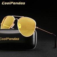 Pilot Luftfahrt Gelb Nachtsicht Fahren Sonnenbrille Männer Frauen Brille Gläser UV400 Gläser Fahrer Brillen gafas de sol 3025