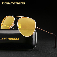 Pilot Aviation Yellow Night Vision Driving Sunglasses Men Wo