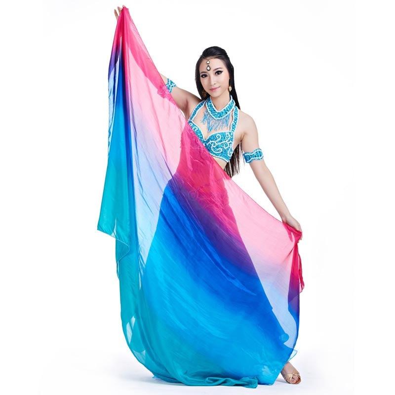 Silk Belly Dance Veil Half Circle Veil Coverup Sarong Shawl  Bellydance Silk Veil