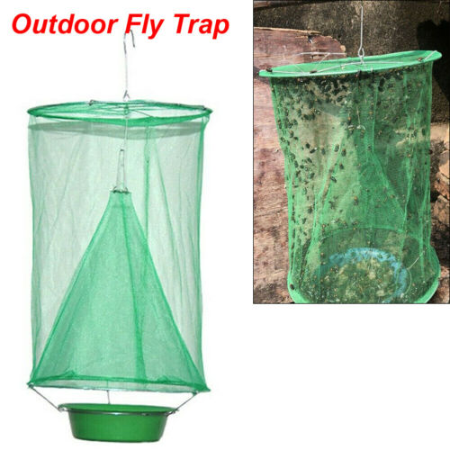 Outdoor Pest Control Fly Trap Reusable Hanging Folding Ranch Trap Catcher Flytrap Effect
