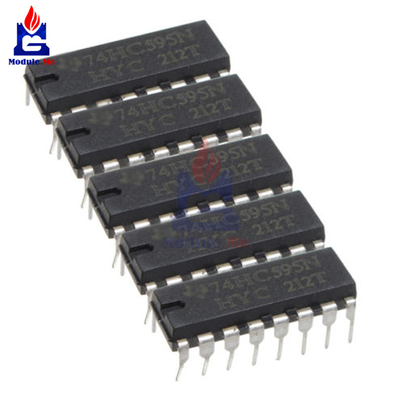 200pcs 74hc595 Sn74hc595n Dip Sn74hc595 Dip16 74hc595n New And Original Ic Fanta High Safety Integrated Circuits