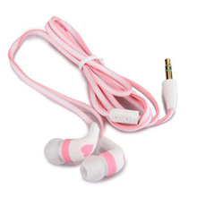 2016 New Wholesale 3.5mm Stereo In-ear Earbud Cute Heart  Earphone Headset for iPhone 5 5s White + Pink Retail