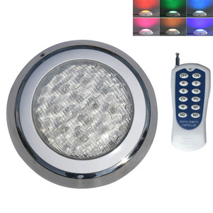 Image 1 - Plastic RGB LED Underwater Light with Remote Controller for Swimming Pool Pond 12V Marine Boat Yacht