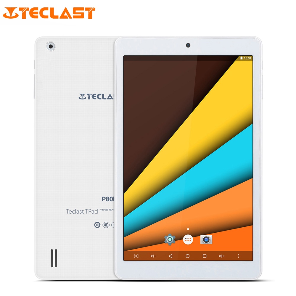 Original Teclast P80h 8'' IPS Screen Android 7.0 Tablet PC MTK8163 Quad Core 1.3GHz 1GB+8GB Dual WiFi GPS Bluetooth 4.0 Tablets in stock teclast x70r 7 ips screen android 5 1sofia x3 c3230 64 bits 8gb 3g phone tablet wcdma tablet pcs with gps bluetooth