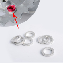 10PCS MTB Bicycle Chain Wheel Plate Screw Gasket Cycling Bike Nail Dental Bolt Washer Fixed Gear Accessories