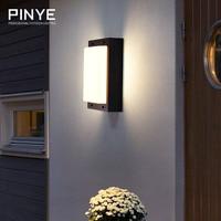 PINYE LED Wall Lamp Lighting Waterproof Modern LED Wall Lamp Courtyard Garden Light Outdoor Warm Lighting PY007