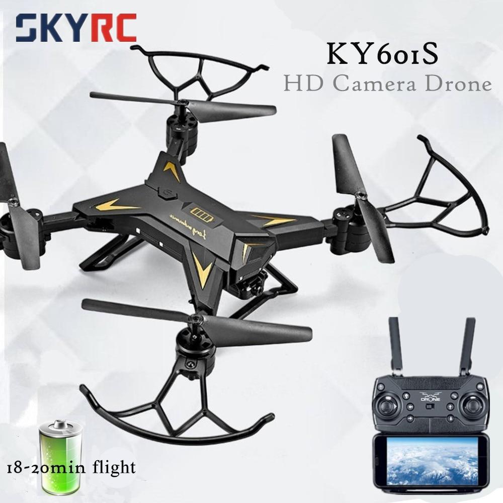 Professionale KY601S Pieghevole Fotocamera Drone HD di Telecomando Quadcopter Elicottero 4 Canali di Lunga Durata tempestiva di trasmissione