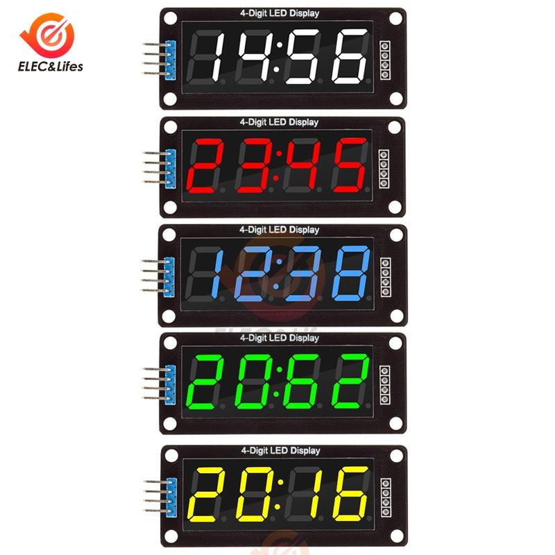 "1PCS Blue 4-Bits Digital LED TM1637 Clock Tube Display 0.56/"" Inch for Arduino"