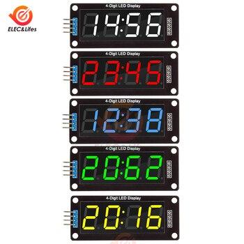 цена на TM1637 4-Digit Digital LED Display Module For Arduino I/O 7 Segment 0.56 Inch Clock Red Green Blue Tube Serial Driver Board Pack