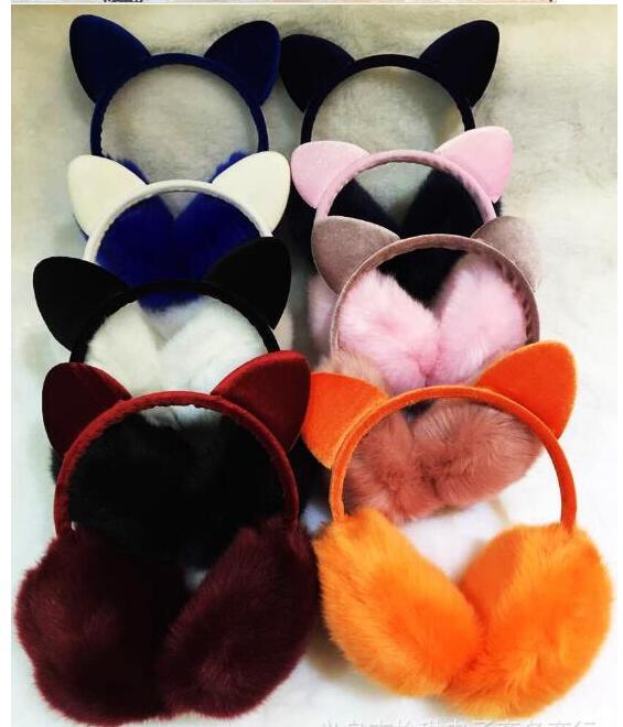 New Year Sale Winter Lovely Rabbit Ears Plush Earmuffs Women's Warm Ear Muffs With Bowknot Q032
