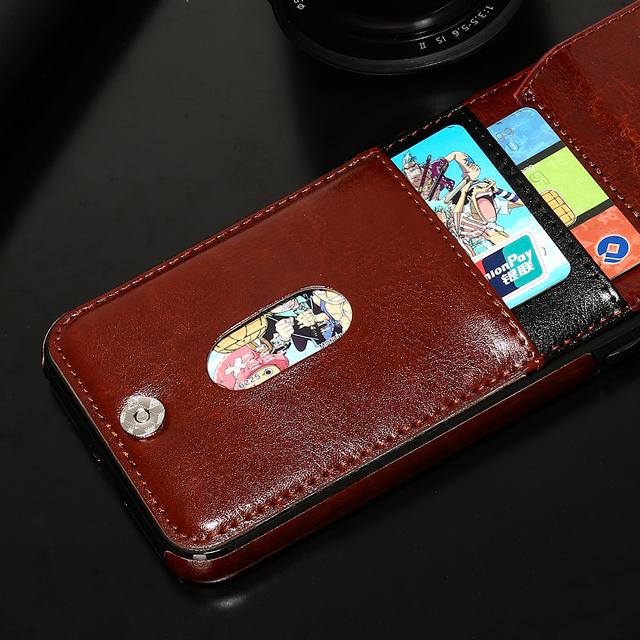 HAISSKY 5 5s SE Leather Case For iPhone 8 Plus 7 Plus 6 6s Plus Case Wallet Card Flip Cover Magnetic Fundas Phone Accessories