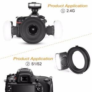 Image 4 - مايكه MK MT24 ماكرو التوأم لايت Speedlight فلاش لنيكون D3100 D3200 D3300 D3400 D5000 D5300 D5500 D7000 D7100 كاميرات DSLR + هدية