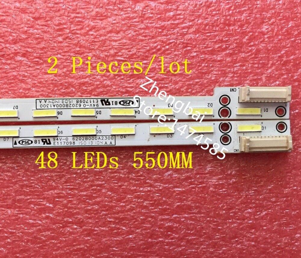 2 шт./лот L50E6800A V500DJ2 LS5 светодиодные полосы 6202B000A2300 6202B000A1300 48 светодиодов 550 мм