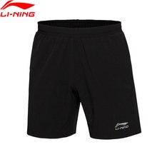 Li-Ning, мужские шорты для соревнований по бадминтону, 91.1% полиэстер, 8.9% спандекс, обычная посадка, дышащая подкладка, спортивные шорты, AAPJ307 CAMJ19