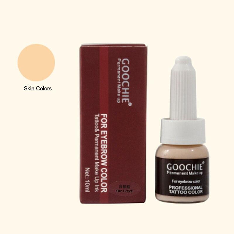 눈썹 자수 Microblading 잉크 안료 Permanent Makeup Ink Skin Colors 영구 화장 용 문신 잉크 10ml 안료