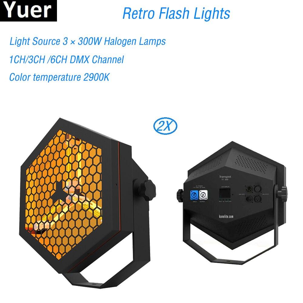 2 Pcs/Lot vente chaude stade lumière rétro Flash lumière 3X300 W halogène lampe DJ Disco scène partie Bar lumières Laser spectacle projecteur lumière