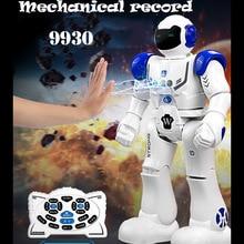 цена на 9930  RC Robot  Mechanical Police Intelligent  Remote Control Robot Programming Children Toys Gifts FSWB