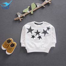 M&F  Baby Girl Coats 2016 New Arrival Autumn Long Sleeve Geometric Star Clothing Fashion Kids Boy Jacket Clothes