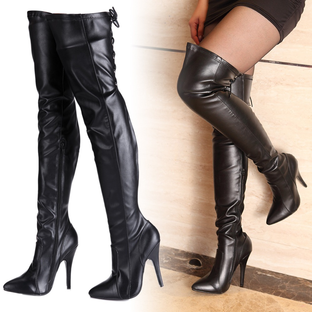 High Heels Boots Over The Knee - Cr Boot