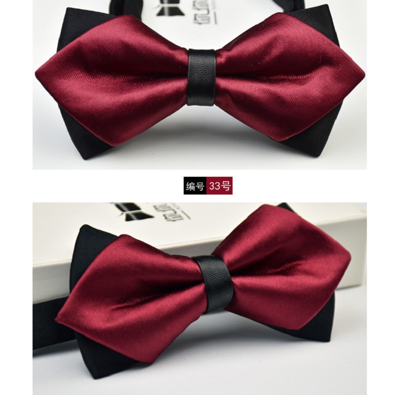 Magenta Burgundy MENS or BOYS Polyester Bow ties Only-Also in Sets or Only Hanky