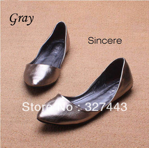 Women's Metallic Pointed Toe Flats